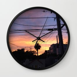 Sunset Lines Wall Clock