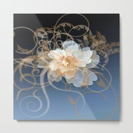 Beautiful Abstract Floral Metal Print