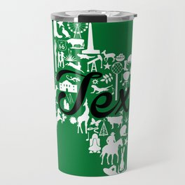 North Texas University Landmark State - Green and Black North Texas University Theme Travel Mug