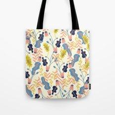 Pastel Floral Pattern Tote Bag