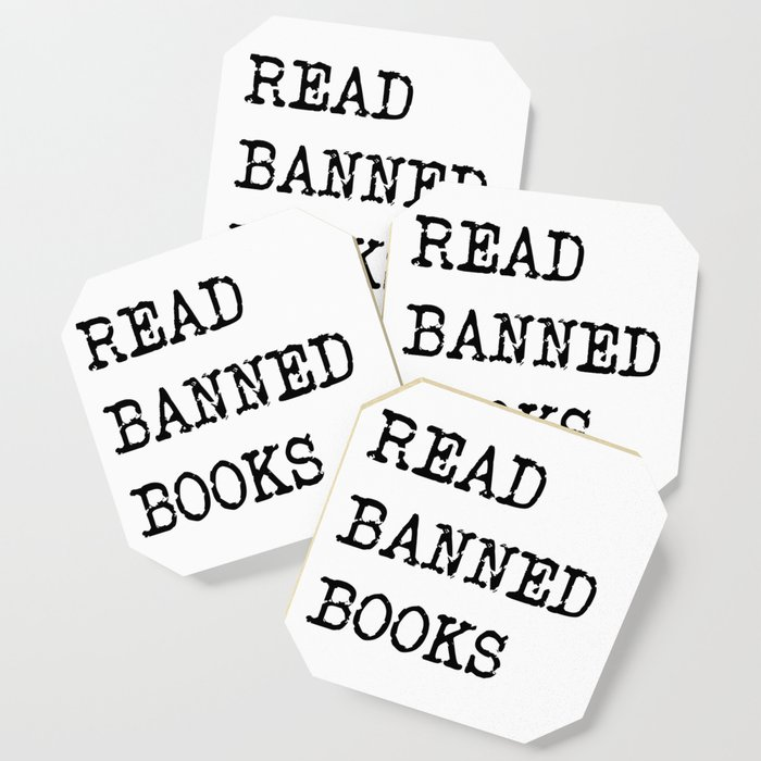 Read Banned Books Coaster