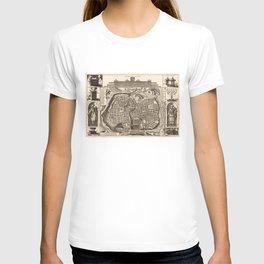 Map of Jerusalem (Ierusalem) circa 1770 T-shirt