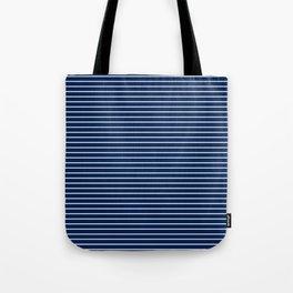 MINI STRIPES - NAVY Tote Bag
