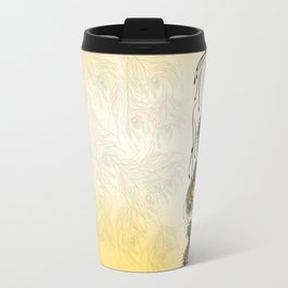Vibrant Jungle Peacock Travel Mug