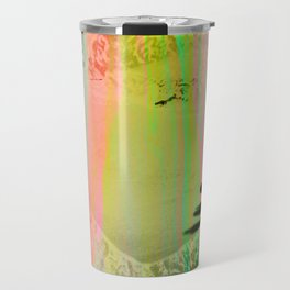 Abstract landscape sweep neon Travel Mug