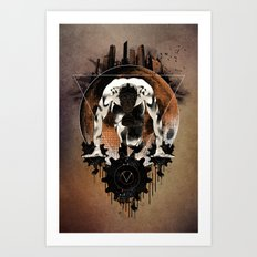 HUMAN VS. MACHINE Art Print