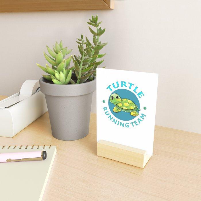 Turtle Running Team I Funny Slow Runner Gift Idea Mini Art Print