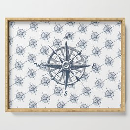 Compass pattern Serving Tray