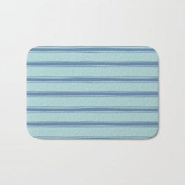 Cobalt blue french striped Bath Mat