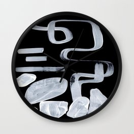 Strange Primitive Abstract Ghostly Patterns Smoky Mid Century Pattern Wall Clock