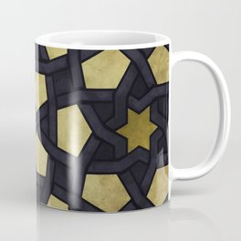 Contemporary Geometric Pattern Accented By Gold Stars Coffee Mug