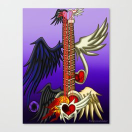 Fusion Keyblade Guitar #16 - One-Winged Angel & Lost Memory Canvas Print