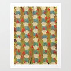 pattern goodbye to autumn Art Print