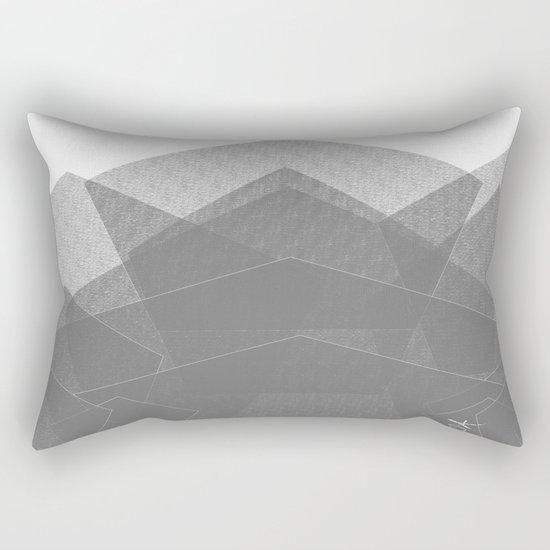 White Winter Skiing Mountain Climbing Rectangular Pillow
