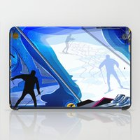 skiing iPad Cases featuring Cross Country Skiing by Robin Curtiss