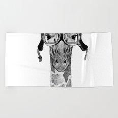 Giraffe Helmet Beach Towel