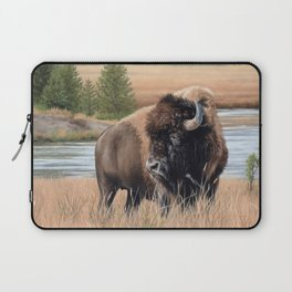 American Bison Painting Laptop Sleeve