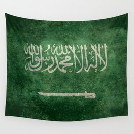 Flag of  Kingdom of Saudi Arabia - Vintage version Wall Tapestry