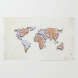 Rose Gold Marble Map - RoseGold World II Rug