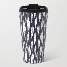 Quail Feathers (Midnight) Travel Mug
