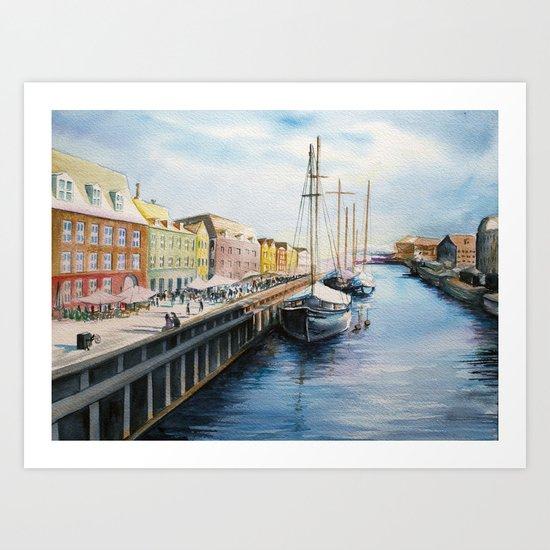Copenhagen Harbor Art Print