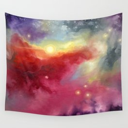 Wall Tapestry 0 Red Jaws of Space by C. B. Miller Art