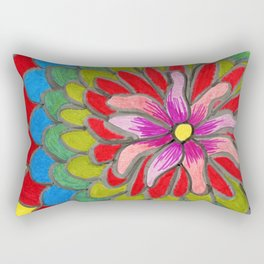Flower with multicolored petals Rectangular Pillow