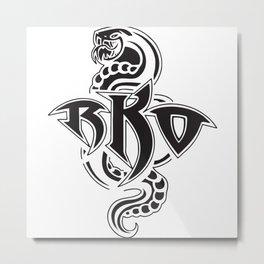 BKO The Snake Metal Print