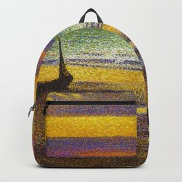 Classical Masterpiece 'Beach at Heist' by Georges Lemmen Backpack