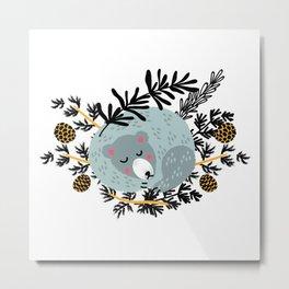 slipping bear Metal Print