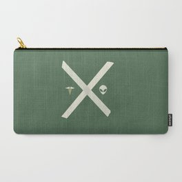 Mulder and Scully (green) Carry-All Pouch
