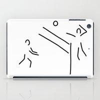 volleyball iPad Cases featuring volleyball clench wet by Lineamentum