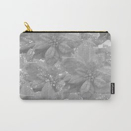 POINSETTIA WHITE SPARKLE TWINKLE PATTERN Carry-All Pouch