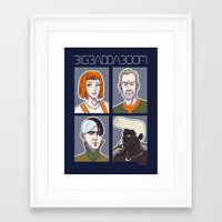 fifth element Framed Art Prints featuring Fifth Element by enerjax