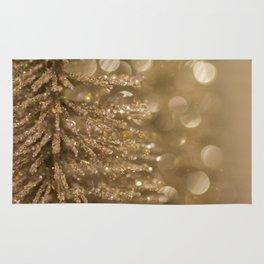 Golden Christmas Gliter Tree Decoration Rug