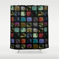 shameless Shower Curtains featuring Boxed In by Ben Geiger