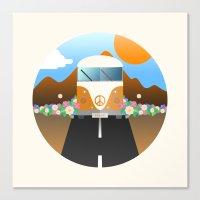 van Canvas Prints featuring Love Van by Moremo