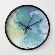 Watercolor blue Wall Clock
