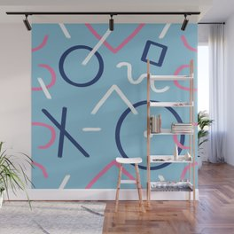 Lines in Movement (Cool Tones) Wall Mural