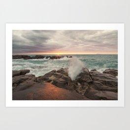 Magic sunset Art Print