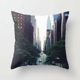 New York City Street Skyscapers Travel Wanderlust #tapestry Throw Pillow