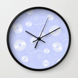 White Spirals Wall Clock