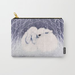 Winter Bunnies Carry-All Pouch
