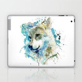 Watercolor Wolf Portrait Laptop & iPad Skin