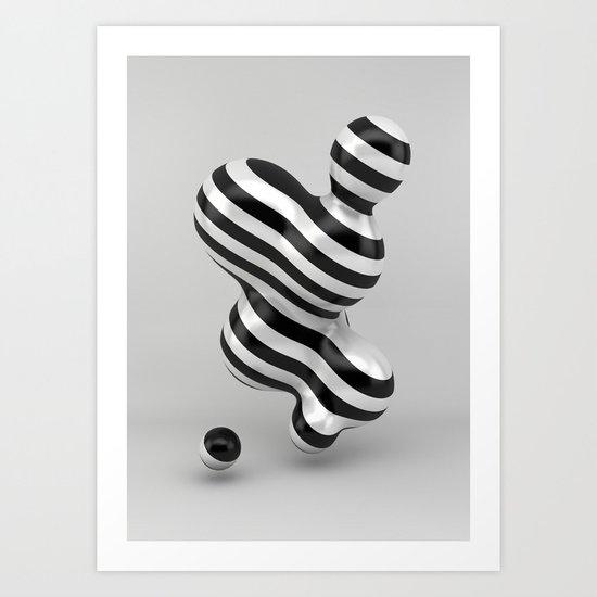 Primitive Stripes Art Print