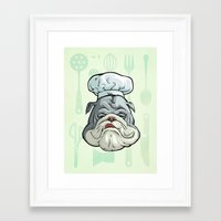 chef Framed Art Prints featuring Chef by Keyspice