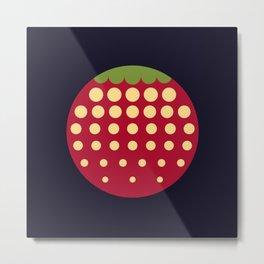 strawberry || russian black Metal Print