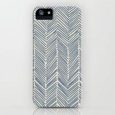 Freeform Arrows in navy iPhone (5, 5s) Slim Case