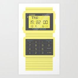 Casio DataBank Watch Art Print