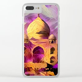 Violet Temple Clear iPhone Case